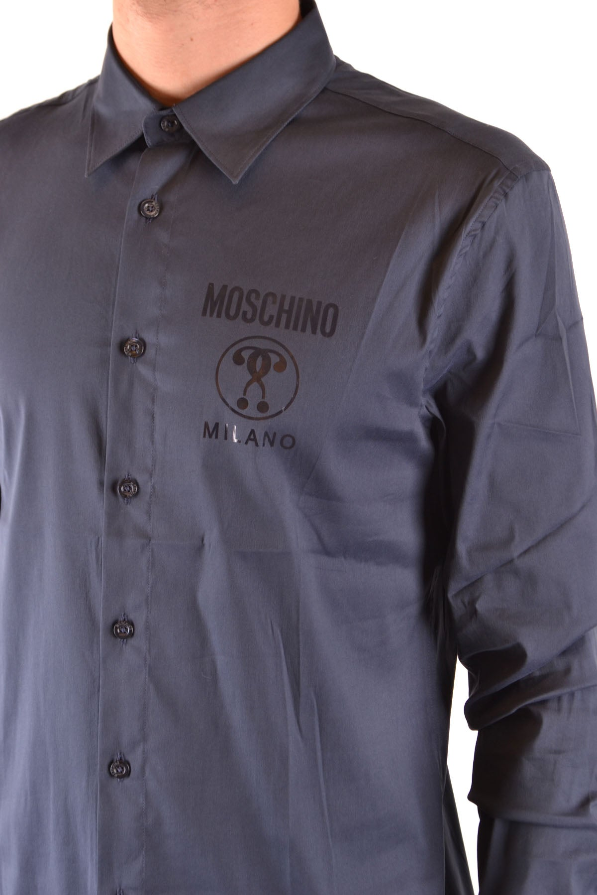 Shirt Moschino--Product Details Terms: New With LabelYear: 2019Main Color: BlueGender: ManMade In: PortugalManufacturer Part Number: Z A0204 5236 0510Size: Collar SizeSeason: Spring / SummerClothing Type: CamiciaComposition: Cotton 77%, Polyamide 20%, Tissue 3%-Keyomi-Sook