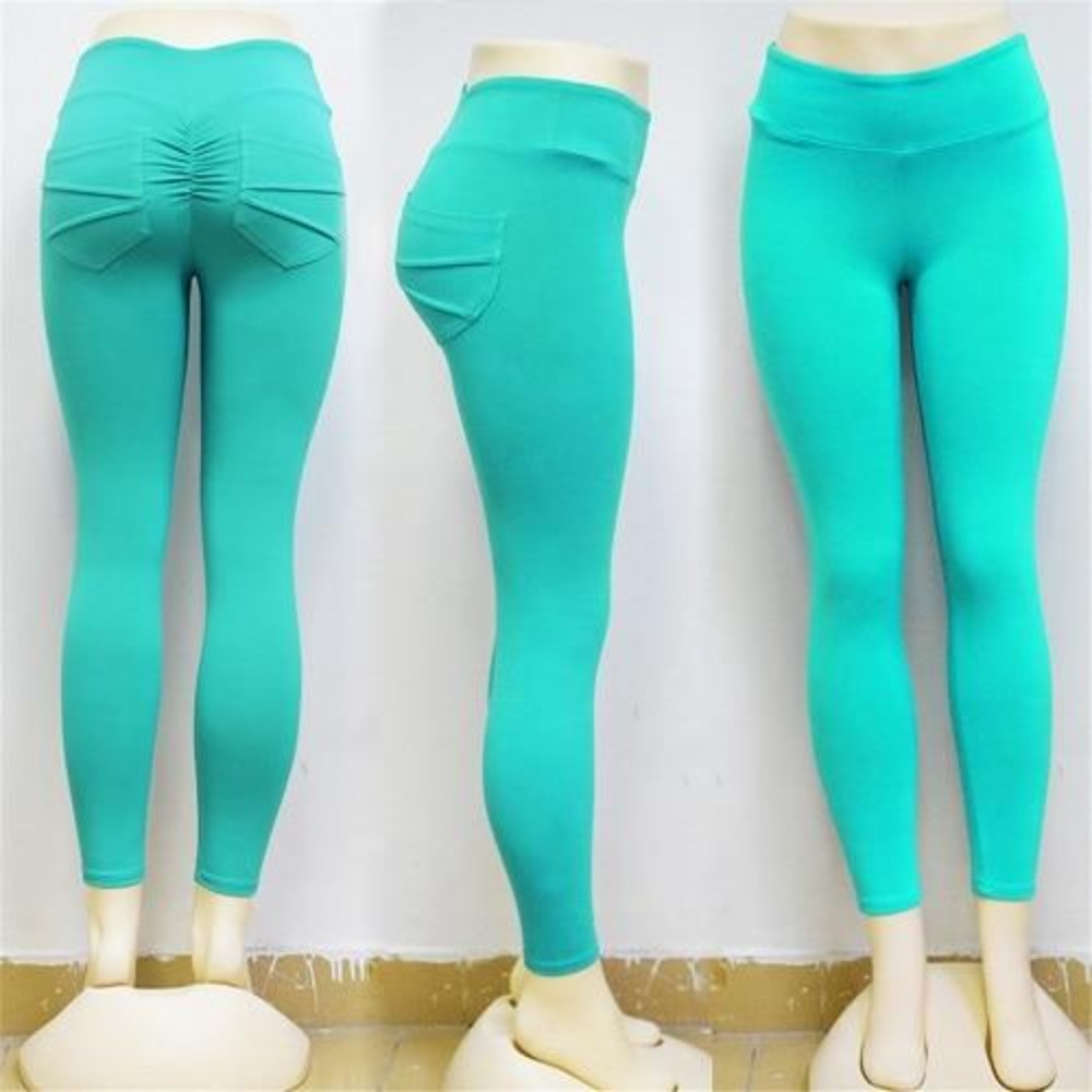Women'S Hip Pocket Scrunch Butt High Waist Fitness Leggings-Women - Apparel - Activewear - Leggings-Blue-S-Product Details: Women's Hip Pocket Scrunch Butt High Waist Slim Pencil Fitness Leggings Item Type: Leggings Waist Type: High Material: Polyester, Spandex Pattern Type: Print Thickness: Standard Length: Ankle-Length Style: High Street Fabric Type: Broadcloth Size Chart:-Keyomi-Sook