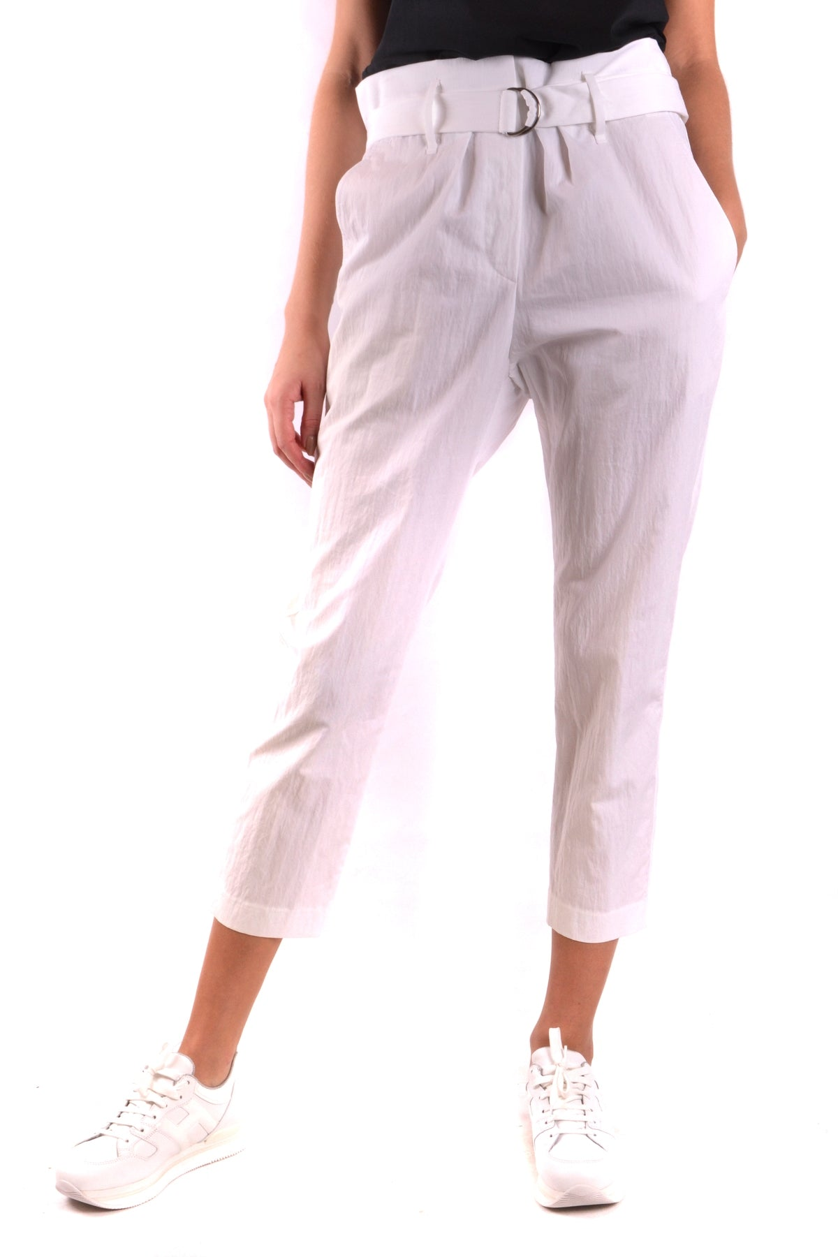 Trousers Brunello Cucinelli-Trousers - WOMAN-Product Details Terms: New With LabelYear: 2018Main Color: WhiteGender: WomanMade In: ItalyManufacturer Part Number: M0F 48P6588 C159Size: ItSeason: Spring / SummerClothing Type: TrousersComposition: Cotton 95%, Polyamide 5%-Keyomi-Sook