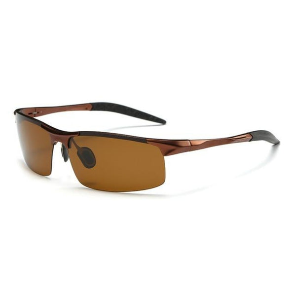 Men's Anti-Glare Polarized Sunglasses-Men's Sunglasses-Brown-China-Product Details: Men's Anti-Glare Polarized Fashion Sunglasses Materials: Aluminum, Magnesium, Alloy Frame with HD Polarized Lenses Package Includes: 1 x Pair Of Sunglasses Dimensions:-Keyomi-Sook