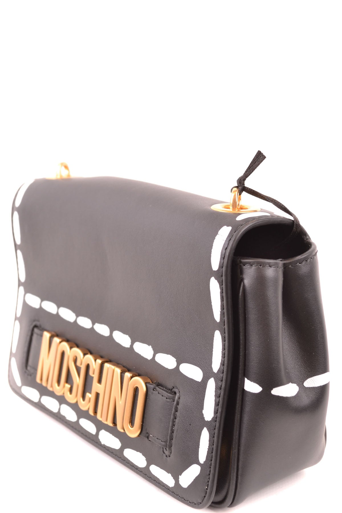 Bag Moschino--Product Details Type Of Accessory: Shoulder BagTerms: New With LabelYear: 2019Main Color: BlackGender: WomanMade In: ItalyManufacturer Part Number: 7A7424 80014555 U911Size: IntSeason: Spring / SummerBag Wxhxd (Cm): 21X14X7Composition: Leather 100%-Keyomi-Sook