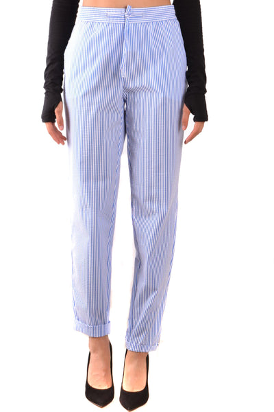 Trousers Boutique Moschino-Trousers - WOMAN-Product Details Terms: New With LabelYear: 2018Main Color: BlueGender: WomanMade In: TunisiaManufacturer Part Number: 181H A03150835Size: ItSeason: Spring / SummerClothing Type: TrousersComposition: Cotton 37%, Elastane 13%, Polyamide 50%-Keyomi-Sook