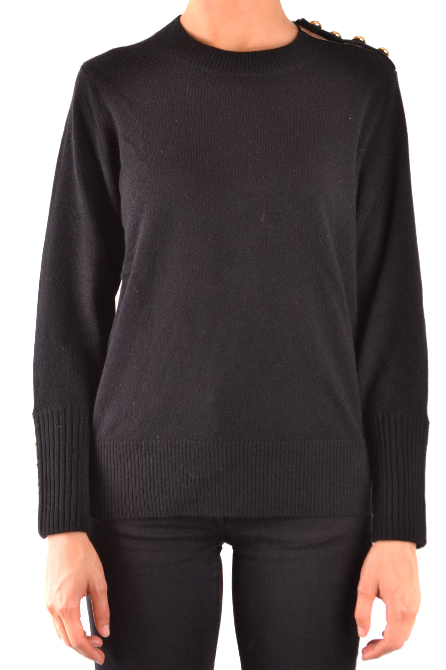Sweater Burberry-Sweaters - WOMAN-Product Details Terms: New With LabelYear: 2018Main Color: BlackGender: WomanMade In: ChinaManufacturer Part Number: 4030426 1001Size: IntSeason: Fall / WinterClothing Type: Sweater And CardiganComposition: Cashmere 100%-Keyomi-Sook