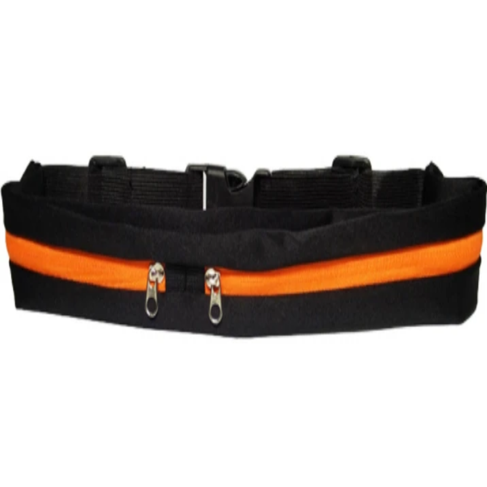 Men & Women's Running Waist Phone Holder Belt Bag-Athletic Wear-Orange-Product Details: Men & Women's Outdoor Running Waist Mobile Phone Holder Belt Bag Material: Polyester Type: Double Pockets Package Content: 1 * Waist Pack-Keyomi-Sook