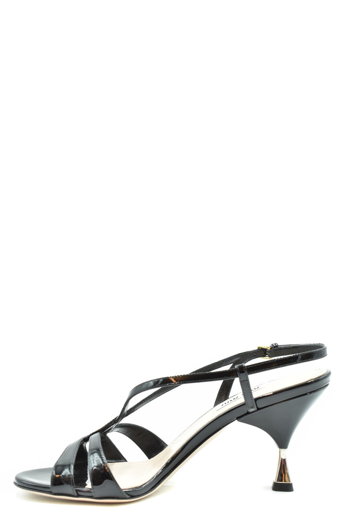 Shoes Miu Miu-Women's Fashion - Women's Shoes - Women's Sandals-Product Details Terms: New With LabelMain Color: BlackType Of Accessory: ShoesSeason: Spring / SummerMade In: ItalyGender: WomanHeel'S Height: 8 CmSize: EuComposition: Dye 100%Year: 2020Manufacturer Part Number: 5X154D 3Asn-Keyomi-Sook