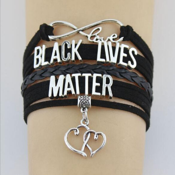 Men & Women's Black Lives Matter Woven Bracelet-Gifts-Product Details: Men & Women's Black Lives Matter Woven Suede Bracelet Metals: Zinc Alloy Materials Wax Cord, Suede, Leather Braid Dimensions: Size Length: 16 cm Plus 4 cm Extended Chain-Keyomi-Sook