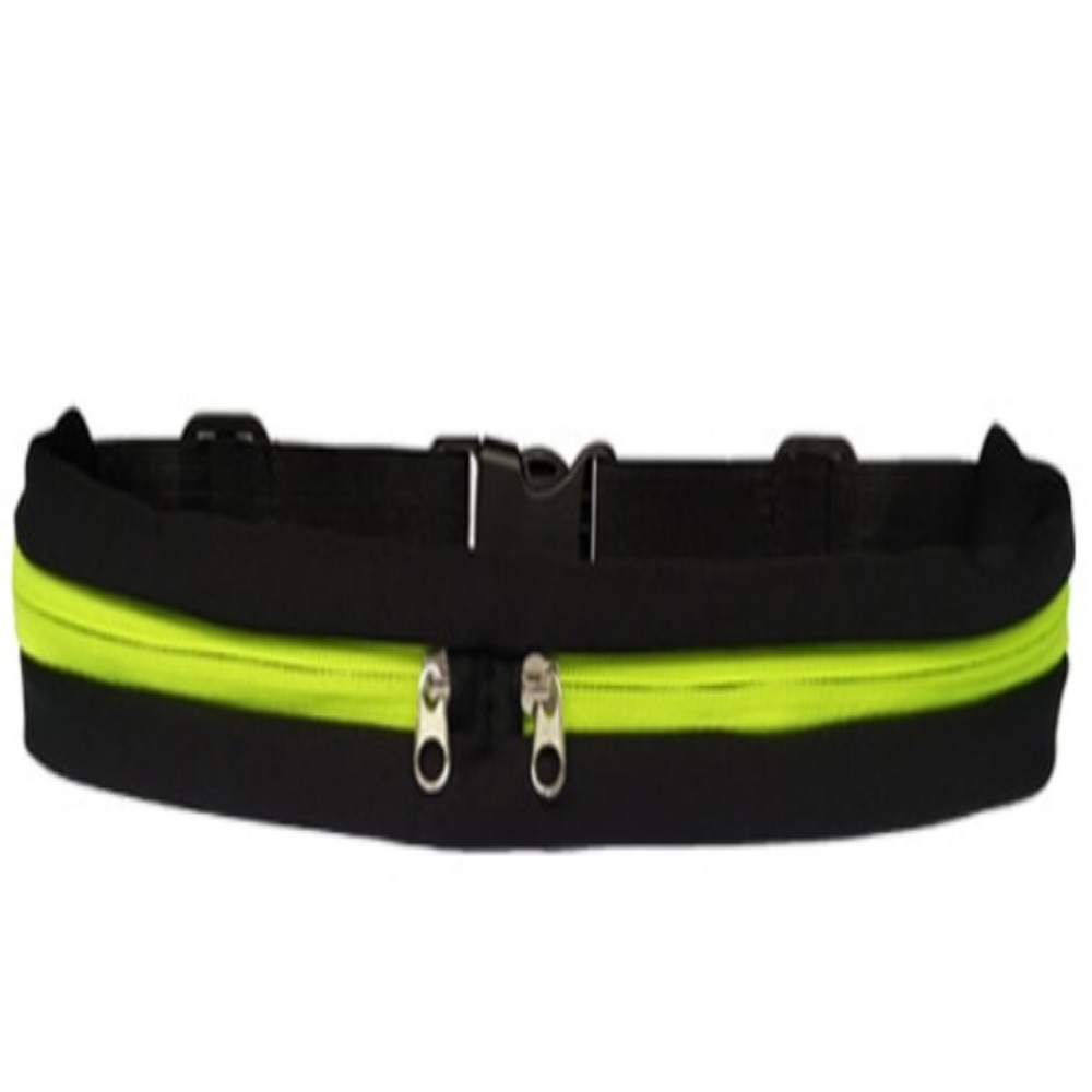Men & Women's Running Waist Phone Holder Belt Bag-Athletic Wear-Green-Product Details: Men & Women's Outdoor Running Waist Mobile Phone Holder Belt Bag Material: Polyester Type: Double Pockets Package Content: 1 * Waist Pack-Keyomi-Sook