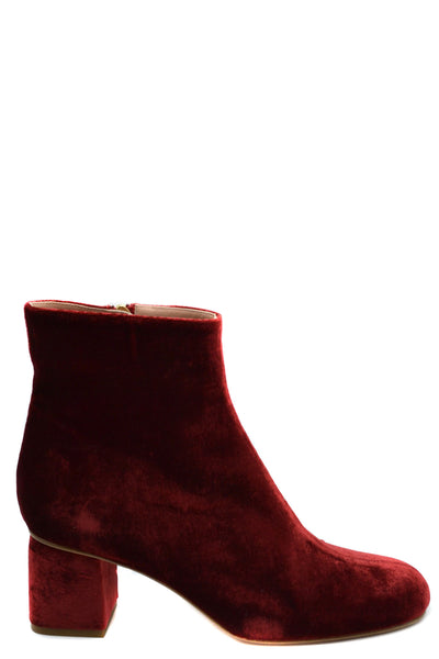 Shoes R.E.D. Valentino-root - Women - Shoes - Booties-Product Details Main Color: BurgundyTerms: New With LabelType Of Accessory: BootsSeason: Spring / SummerMade In: ItalyGender: WomanHeel'S Height: 6Size: EuComposition: Velvet 100%Year: 2020Manufacturer Part Number: Sq2S0C63-Keyomi-Sook