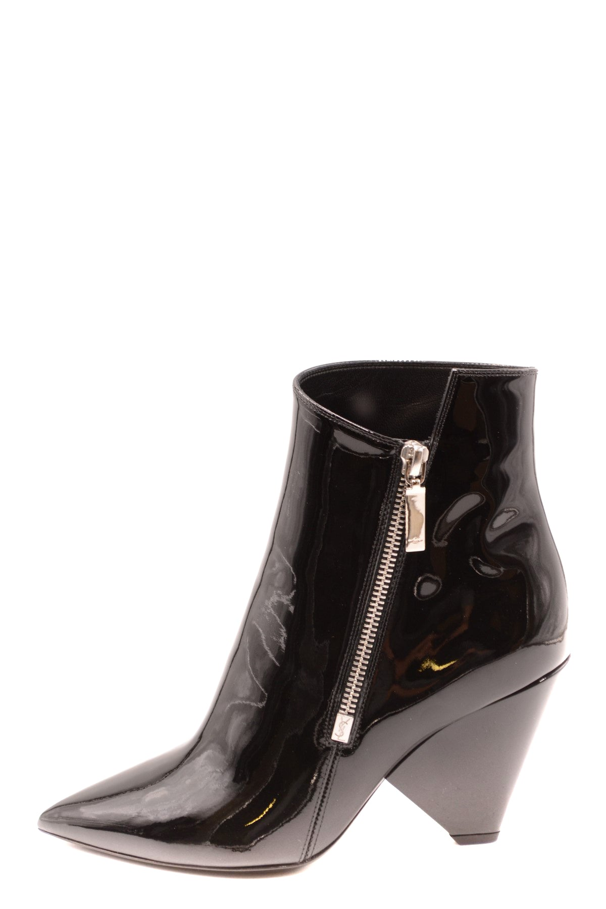 Shoes Saint Laurent-Women's Fashion - Women's Shoes - Women's Boots-Product Details Terms: New With LabelMain Color: BlackType Of Accessory: BootsSeason: Fall / WinterMade In: ItalyGender: WomanHeel'S Height: 7Size: EuComposition: Leather 100%Year: 2019Manufacturer Part Number: 543838 0Np00 1000-Keyomi-Sook