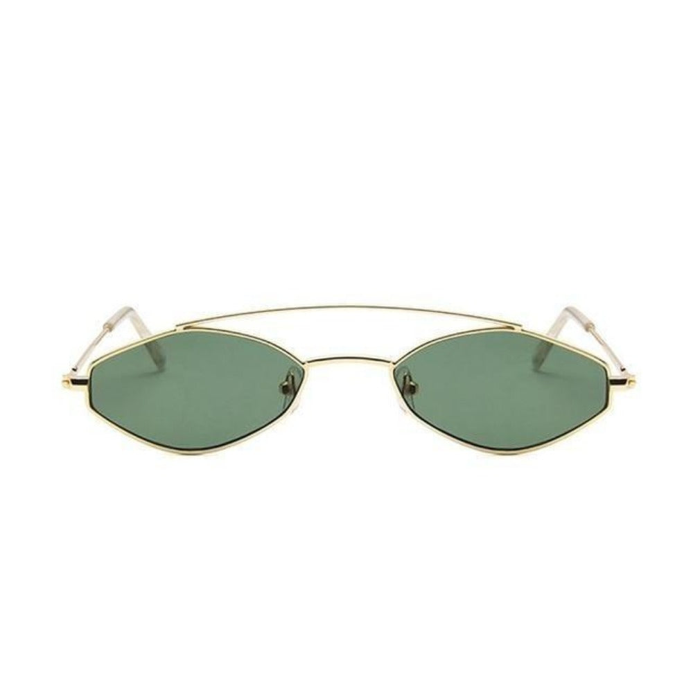 Women's Nose Resting Cat Eye Sunglasses-Ladies Sunglasses-D879 dark green-Product Details: Women's Nose Resting Cat Eye Retro Small Double Beam Sunglasses Lenses Optical Attribute: Gradient, UV400 Lenses Material: Resin Style: Cat Eye Frame Material: Alloy Dimensions:-Keyomi-Sook
