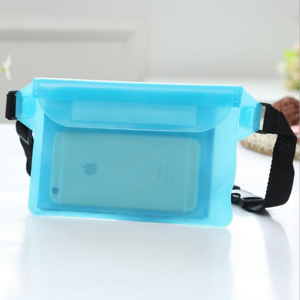 Waterproof Fanny Pack Phone Pocket-Fanny My Bum-Light Blue-Product Details: Waterproof Diving Waist Fanny Pack Phone Pocket-Keyomi-Sook