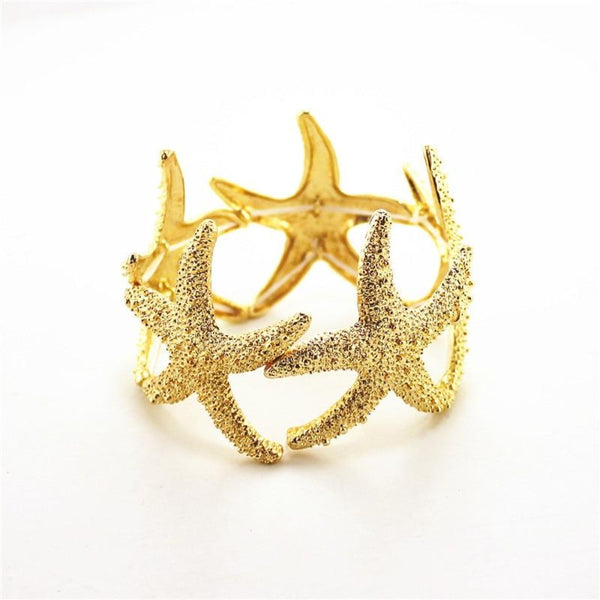 Starfish Bracelet--Product Detail: Fashion jewelry Fashionable woman gold is simple and easy the starfish bracelet Material: Metal-Keyomi-Sook