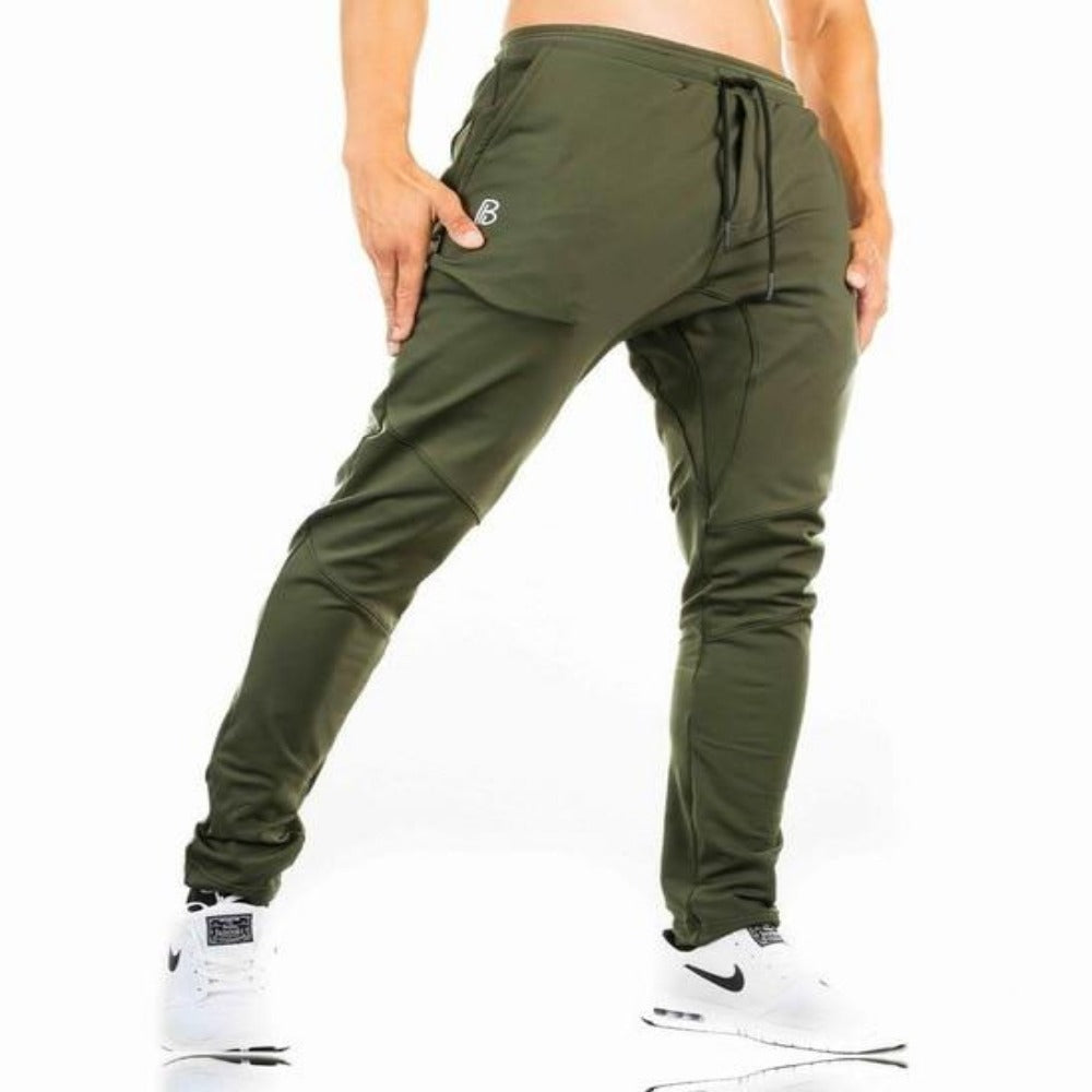 Men's Fitness Sweatpants-Men's Athletic Wear-Army green-M-Product Details: Men's Pants Fitness Sweatpants gyms Joggers Pants Workout Casual Pants Material: Spandex, Cotton Size Chart:-Keyomi-Sook