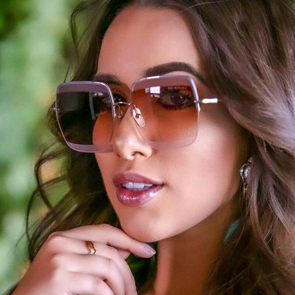 Ladies Big Square Rim Sunglasses-Ladies Sunglasses-Product Details: Big Square Sunglasses Women Package:1 x Sunglasses Dimensions:-Keyomi-Sook