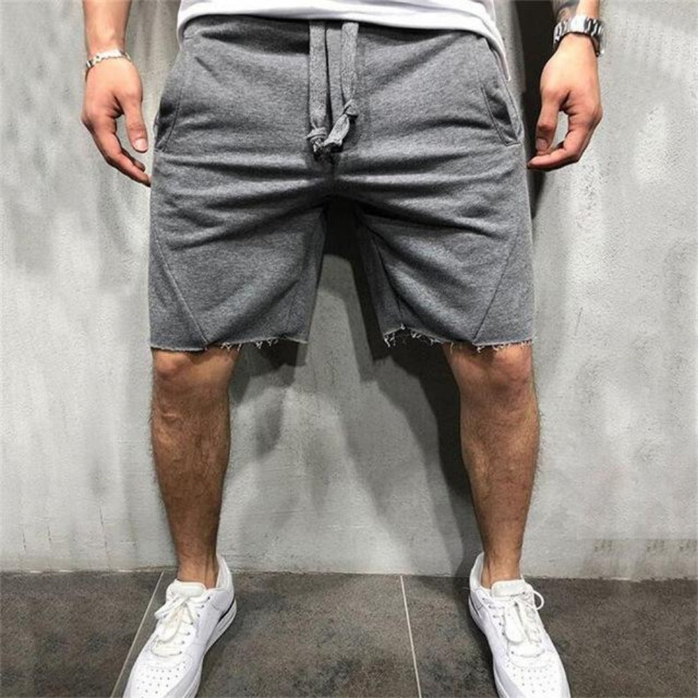 Men's Casual Fitness Jogging Short Pants-Men's Athletic Wear-Dark gray-S-Product Details: Men's Quick Drying Casual Fitness Jogging Short Pants Length: Shorts Material: Cotton, Polyester Closure Type: Elastic Waist Waist Type: Mid Decoration: Appliques Size Chart:-Keyomi-Sook