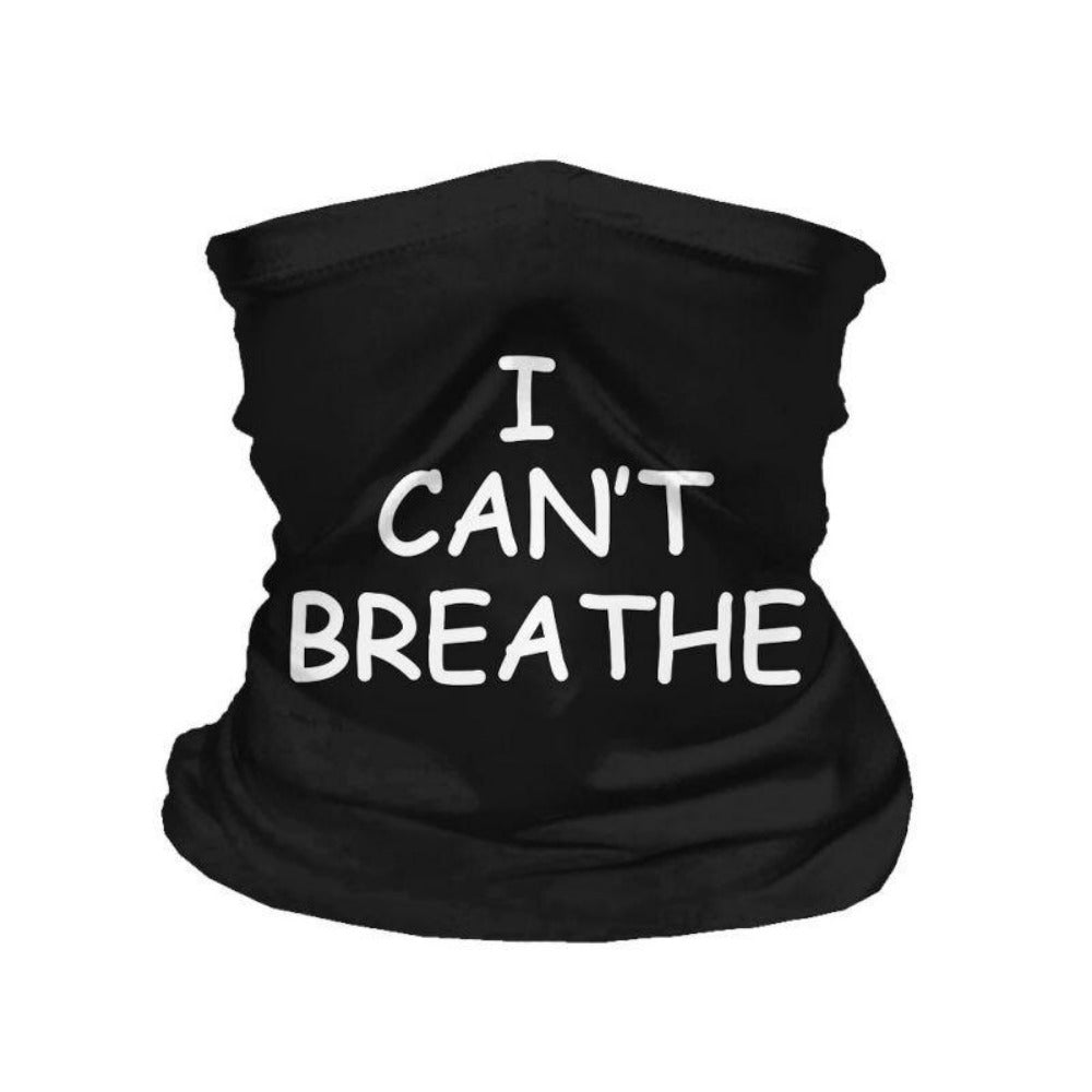 Men & Women's I Can't Breathe Print Scarf-Ladies Scarves-Product Details: Men & Women's I Can't Breathe Print Multi-function Scarf Fabric Material: Polyester Fiber Weight: 33 g Dimensions: Size: 22 x 31 cm-Keyomi-Sook