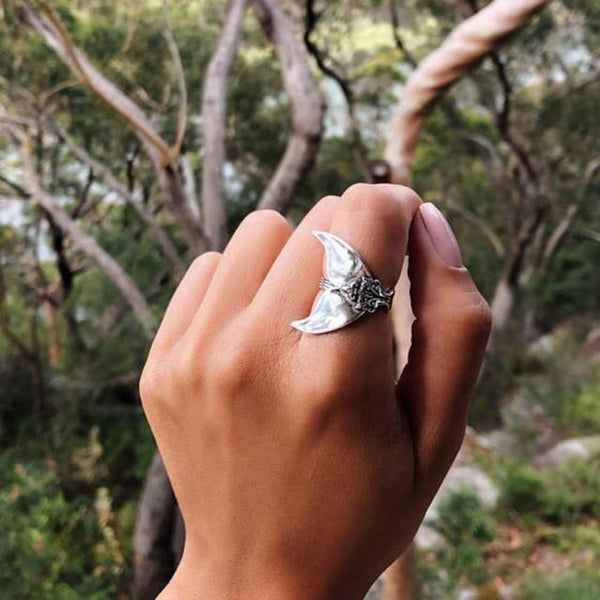Mermaid Tail Ring-6-silver-Keyomi-Sook