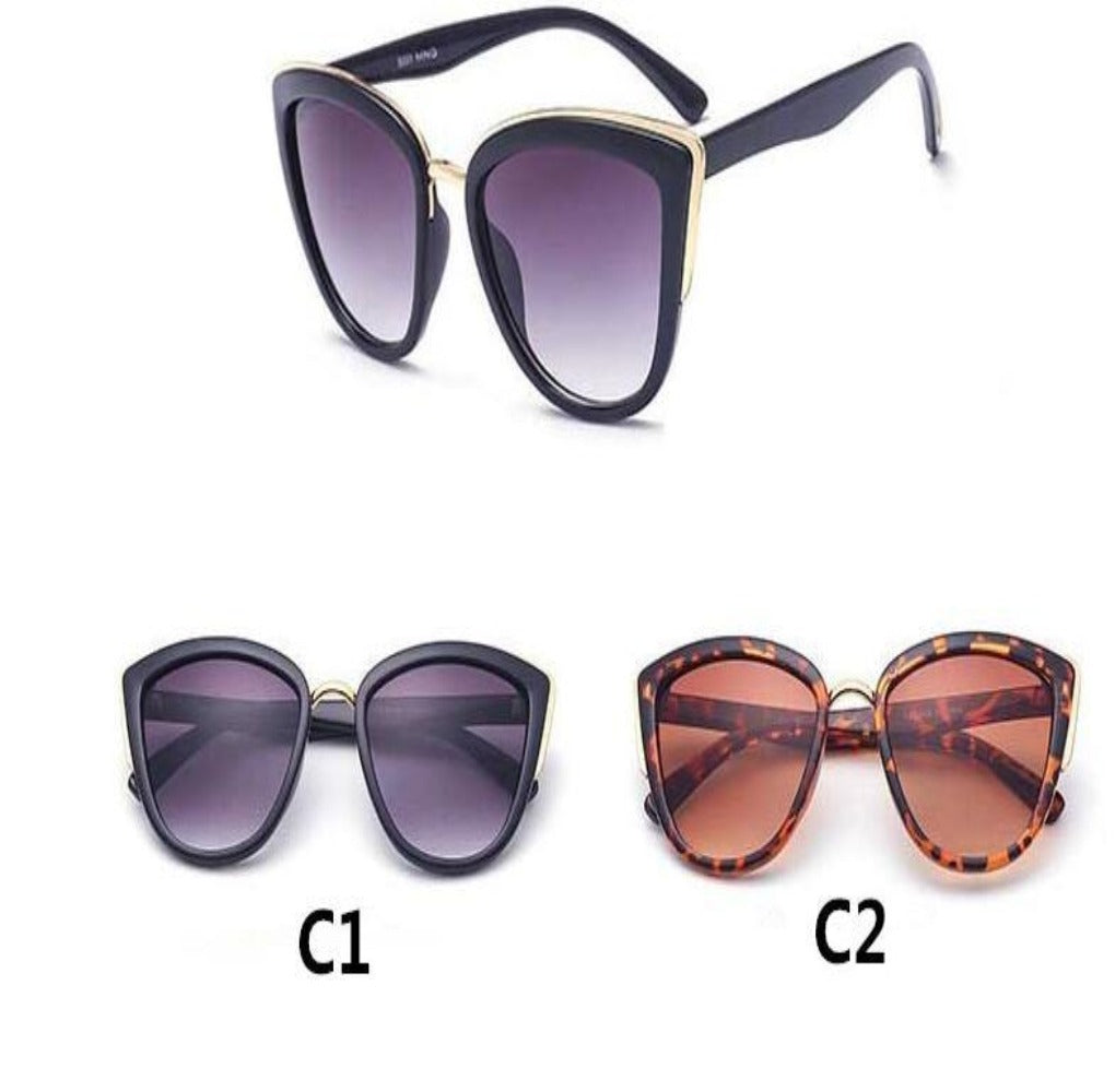 Ladies Vintage Cat Eye Big Frame Sunglasses-Ladies Sunglasses-Product Details: Cute Eye wear Vintage Sexy Ladies Cat Eye Sunglasses For Women Brand New Fashion Sun Glasses Style: Cat Eye Lenses Material: TAC Lenses Optical Attribute: Mirror, UV400 Frame Material: Plastic Dimensions: Lens Width: 53 mm Lens Height: 46 mm-Keyomi-Sook
