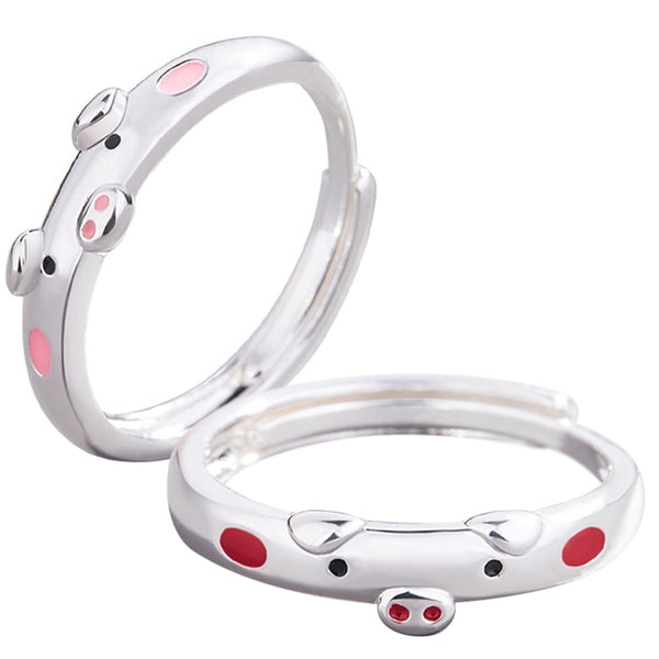 Pink & Red Pig Ring-Gifts-Product Detail: 1Pcs Creative Cute Pink Red Pig Rings Popular Lucky Piggy Animal Couple Opening Ring Women Man Jewelry Lover's Gifts Metals Type: Zinc Alloy Material: Metal Shape Pattern: Animal Fine or Fashion: Fashion Dimension: Surface Width: 5 mm-Keyomi-Sook