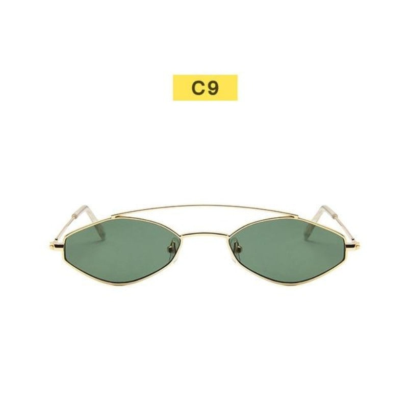 90's Oval Nose Resting Sunglasses-Ladies Sunglasses-C9-Tint Gold-Product Detail: 90s Sunglasses Women Retro Oval Sunglasses Lady Brand Designer Vintage Sunglasses Girls Eyeglasses UV400 Frame Material: Alloy Lenses Material: Acrylic Dimensions: Lens Height: 30 mm Lens Width: 52 mm-Keyomi-Sook