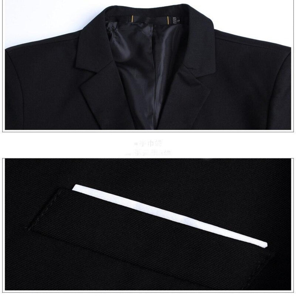 Breasted Two Button Blazer Jacket-Men's Jackets, Coats & Sweaters-Product Details: Mens Slim Fit Elegant Blazer Jacket Brand Single Breasted Two Button Party Formal Business Dress Suit Size Chart:-Keyomi-Sook