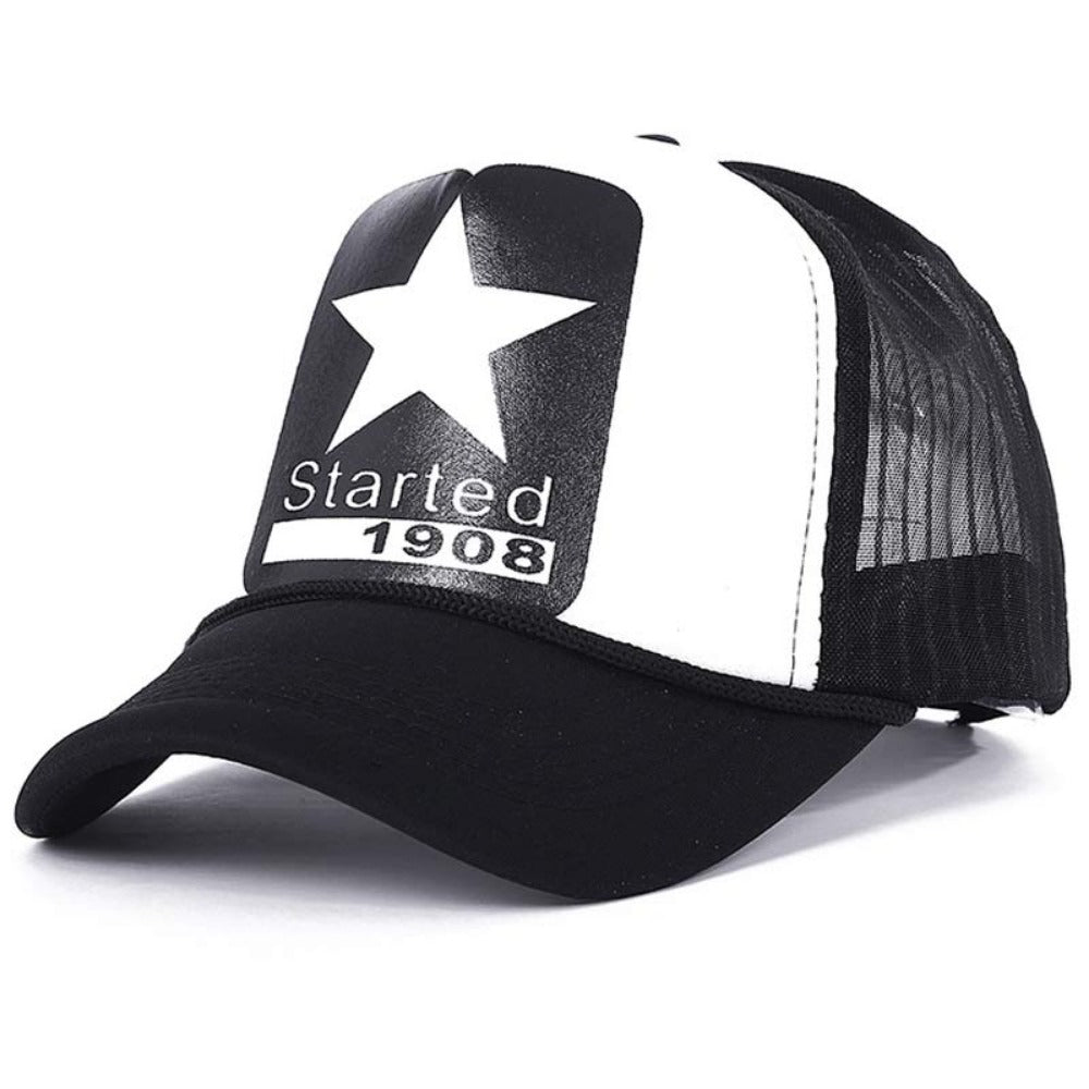 Men's Cartoon Dead Eyes Adjustable Baseball Cap-Men's Hats-star-Product Details: Men's Dead Eyes Character Adjustable Strap Mesh Back Panel Urban Baseball Snapback Material: Polyester Hat Size: One Size Head Circumference: 58 - 60 cm, Adjustable Size-Keyomi-Sook