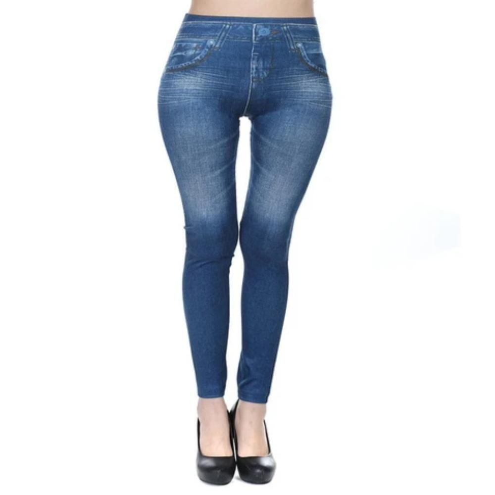Women's Faux Denim Pocket Pencil Jeans-Ladies Jeans-Thin Blue-S-Product Details: Women's Faux Denim Pocket Casual Pencil Plus Size Jeans Length: Ankle-Length Waist Type: Mid Item Type: Leggings Style: Casual Material: Polyester, Spandex Fabric Type: Broadcloth Size Chart:-Keyomi-Sook