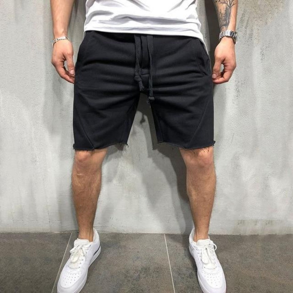 Men's Quick-Drying Jogging Shorts-Men's Casual-black-S-Product Details: Summer Quick-drying Shorts Men's Black, White, Beige, Green, Grey, & Dark Grey, Jogging Short Pants Casual Fitness Street-wear Men Shorts Length: Shorts Material: Cotton, Polyester Closure Type: Elastic Waist Waist Type: Mid Decoration: Appliques Size Chart: Men Size Introduction Asian Size Height Weight Unit Waist Hips Thigh Length S 160-165 55-60 cm 66 98 58 50 cm kg inch 25.6 38.6 22.8 19.7 M 165-170 61-67 cm 68 102 60 51