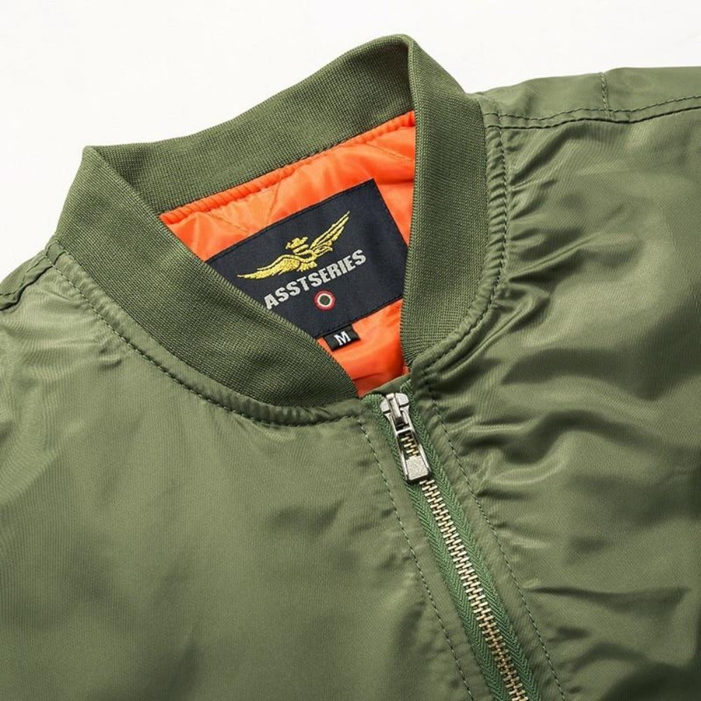 S-6XL Men's Army Green Bomber Jacket-Men's Jackets, Coats & Sweaters-Product Details: Thick And Thin Army Green Military Motorcycle Ma-1 Aviator Pilot Air Men Bomber Jacket Lining Material: Polyester Material: Polyester, Nylon Cuff Style: Conventional Collar: V-Neck Size Chart: M/165-170cm suitable weight(50kg-56kg) L/170-173cm suitable weight(56kg-61kg) XL/174-175cm suitable weight(62kg-70kg) XXL/176-180cm suitable weight(75kg-85kg) 3XL/176-180cm suitable weight(80kg-90kg) 4XL/175-185cm suitabl
