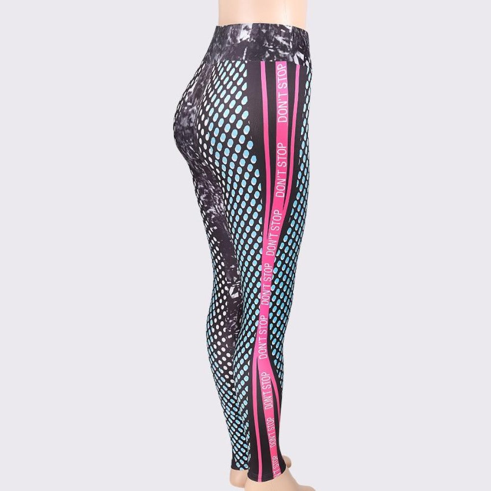 Women'S Honeycomb Letter Print High Waist Leggings-Women - Apparel - Activewear - Leggings-Product Details: Women's Honeycomb Letter Print Skinny High Waist Elastic Fitness Leggings Item Type: Leggings Thickness: Standard Length: Ankle-Length Waist Type: High Material: Polyester, Spandex Pattern Type: 3D Fabric Type: Broadcloth Style: Casual Size Chart:-Keyomi-Sook
