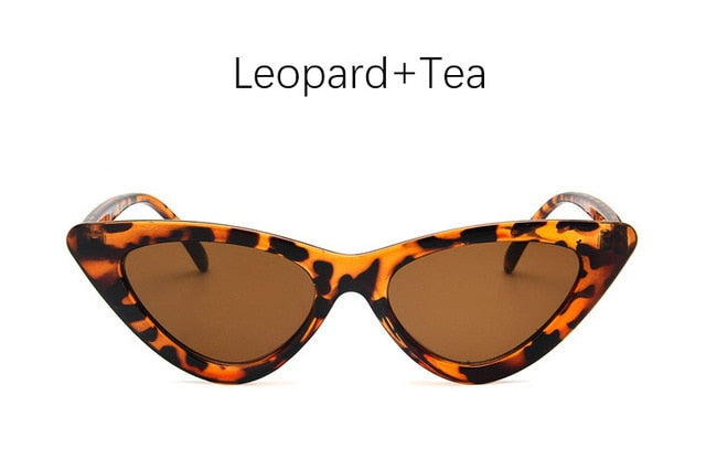 Retro Cat Eye Sunglasses-Ladies Sunglasses-Leopard Tea-Product Detail: cat eye shade for women fashion sunglasses brand woman vintage retro triangular cat-eye glasses sunglasses Sexy Frame Material: Poly-carbonate Style: Cat Eye Lenses Optical Attribute: UV400, Photo chromic Dimensions: Lens Width: 52 mm Lens Height: 45 mm-Keyomi-Sook