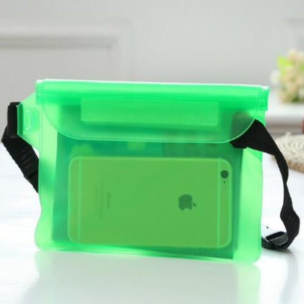 Waterproof Fanny Pack Phone Pocket-Fanny My Bum-Green-Product Details: Waterproof Diving Waist Fanny Pack Phone Pocket-Keyomi-Sook