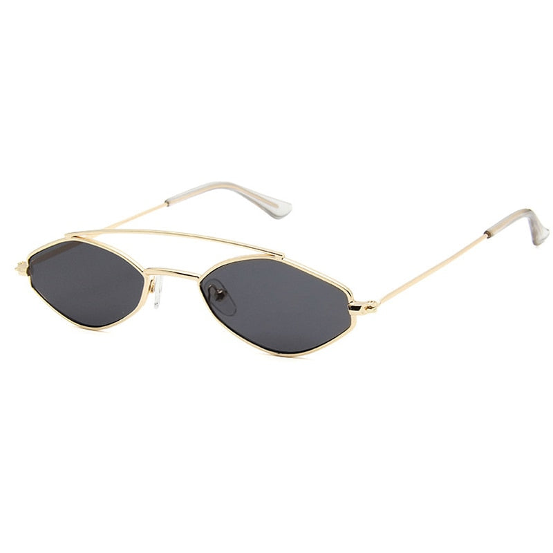 90's Oval Nose Resting Sunglasses-Ladies Sunglasses-Product Detail: 90s Sunglasses Women Retro Oval Sunglasses Lady Brand Designer Vintage Sunglasses Girls Eyeglasses UV400 Frame Material: Alloy Lenses Material: Acrylic Dimensions: Lens Height: 30 mm Lens Width: 52 mm-Keyomi-Sook