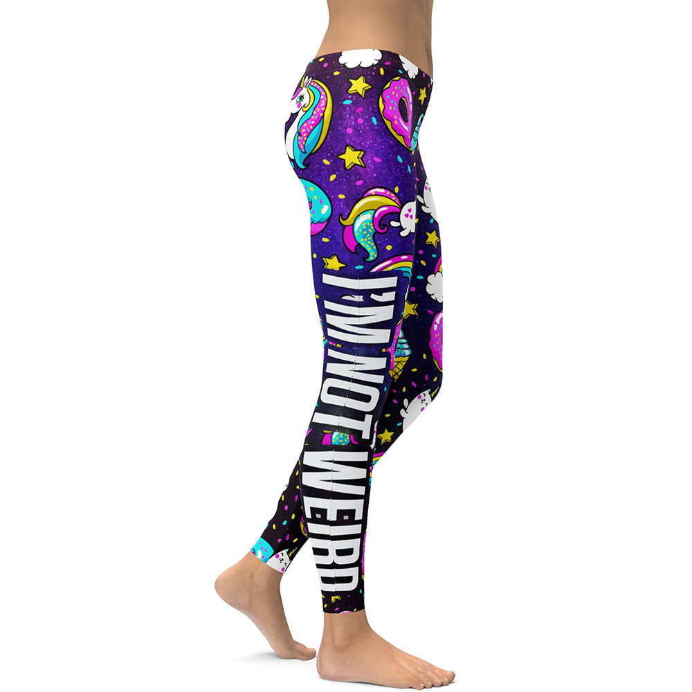 Women'S Unicorn Ice Cream Rainbow Letter Print Leggings-Women - Apparel - Activewear - Leggings-Product Details: Women's Unicorn Ice Cream Rainbow Letter Digital Print Plus Size Leggings Main Material: Polyester 88%, Spandex 11% Size Chart:-Keyomi-Sook