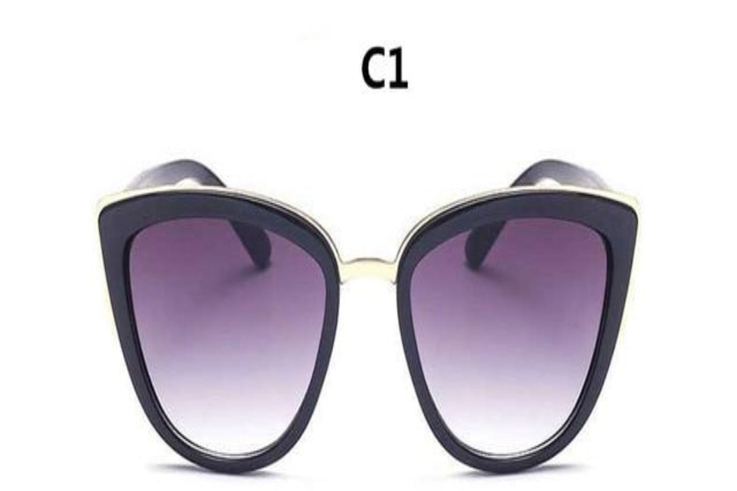Ladies Vintage Cat Eye Big Frame Sunglasses-Ladies Sunglasses-C1-Blk Frame-Product Details: Cute Eye wear Vintage Sexy Ladies Cat Eye Sunglasses For Women Brand New Fashion Sun Glasses Style: Cat Eye Lenses Material: TAC Lenses Optical Attribute: Mirror, UV400 Frame Material: Plastic Dimensions: Lens Width: 53 mm Lens Height: 46 mm-Keyomi-Sook