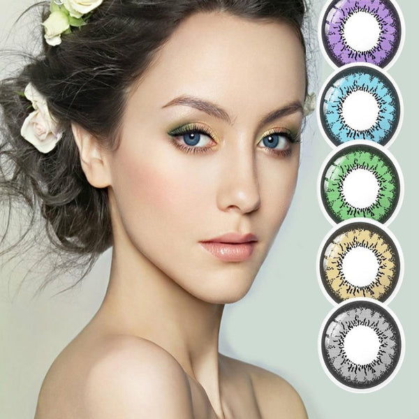 Kiwi Halloween Contact Lens-Holidays-Product Details: Cosplay Colorful Kiwi Halloween Contact Lens-Keyomi-Sook