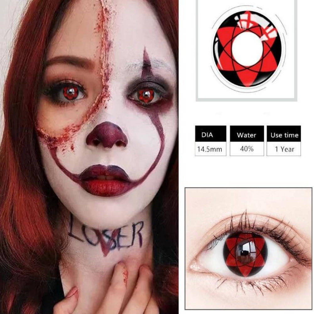 Cosplay Colored Halloween Contact Lens-Holidays-Color 6-Product Details: Cosplay Colored Halloween Cosmetic Contact Lens Expiration Time: 1 Year Ingredients: Hema, Saline Water Content: 40% Package Included: 1 Pair Contact Lens (2pcs) Diameter: 14.5 mm-Keyomi-Sook