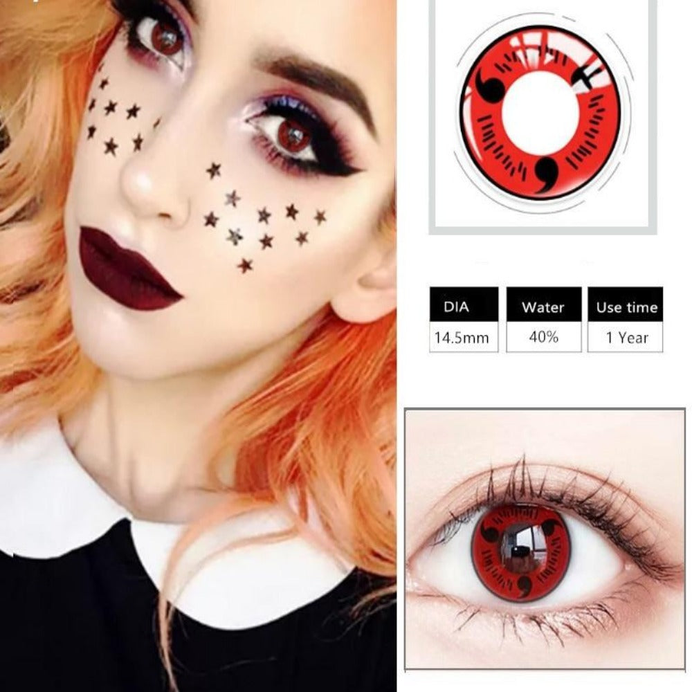 Cosplay Colored Halloween Contact Lens-Holidays-Color 3-Product Details: Cosplay Colored Halloween Cosmetic Contact Lens Expiration Time: 1 Year Ingredients: Hema, Saline Water Content: 40% Package Included: 1 Pair Contact Lens (2pcs) Diameter: 14.5 mm-Keyomi-Sook
