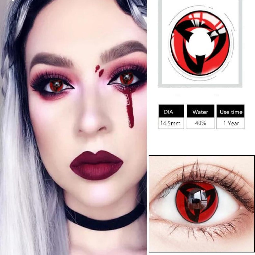 Cosplay Colored Halloween Contact Lens-Holidays-Color 4-Product Details: Cosplay Colored Halloween Cosmetic Contact Lens Expiration Time: 1 Year Ingredients: Hema, Saline Water Content: 40% Package Included: 1 Pair Contact Lens (2pcs) Diameter: 14.5 mm-Keyomi-Sook