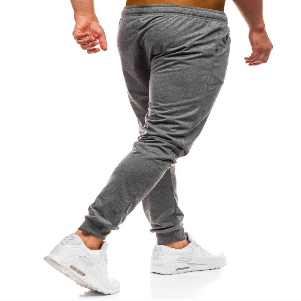 Men'S Elastic Waist Workout Sweatpants-Mens Pants and Shorts-Product Details: Men's Elastic Waist Solid Color Casual Workout Sweatpants Item Type: Full Length Pant Style: Sweatpants Style: High Street Fit Type: Regular Material: Cotton, Polyester Waist Type: Mid Length: Full Length Thickness: Midweight Front Style: Flat Fabric Type: Broadcloth Closure Type: Elastic Waist Size Chart:-Keyomi-Sook