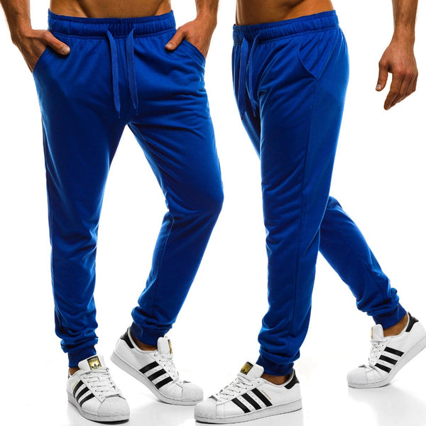 Men's Elastic Waist Workout Sweatpants-Athletic Wear-Product Details: Men's Elastic Waist Solid Color Casual Workout Sweatpants Item Type: Full Length Pant Style: Sweatpants Style: High Street Fit Type: Regular Material: Cotton, Polyester Waist Type: Mid Length: Full Length Thickness: Midweight Front Style: Flat Fabric Type: Broadcloth Closure Type: Elastic Waist Size Chart:-Keyomi-Sook