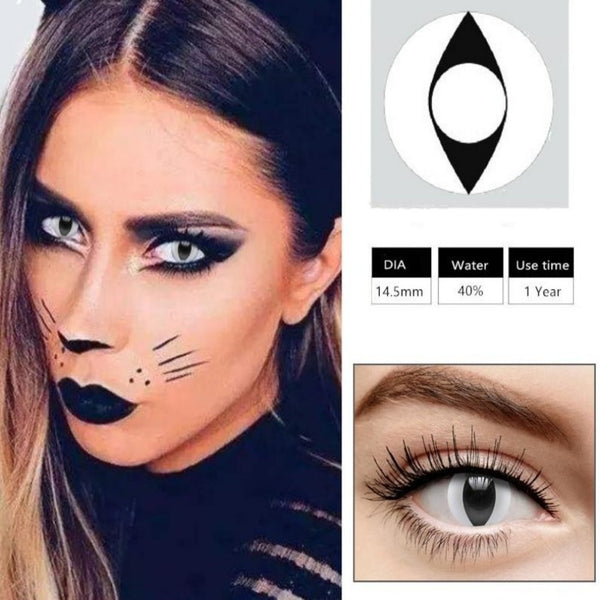 Cosplay Colored Halloween Contact Lens-Holidays-Product Details: Cosplay Colored Halloween Cosmetic Contact Lens Expiration Time: 1 Year Ingredients: Hema, Saline Water Content: 40% Package Included: 1 Pair Contact Lens (2pcs) Diameter: 14.5 mm-Keyomi-Sook