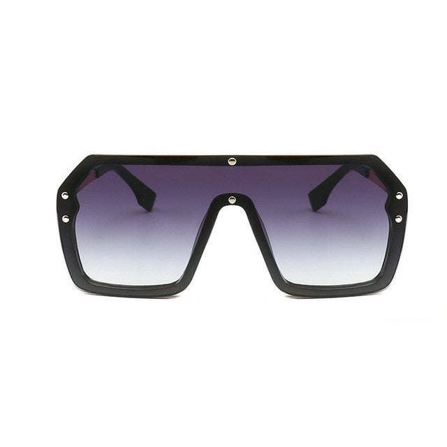 Unisex Oversized Boxed Shield Sunglasses-Men's Sunglasses-gray 2-Product Detail: Unisex Oversized Shield Visor Sunglasses Women Large Size Sunglasses Men Or Women Transparent Frame Vintage Big Windproof Retro Glasses Lenses Optical Attribute: UV400 Frame Material: Plastic Titanium Lenses Material: Polycarbonate-Keyomi-Sook