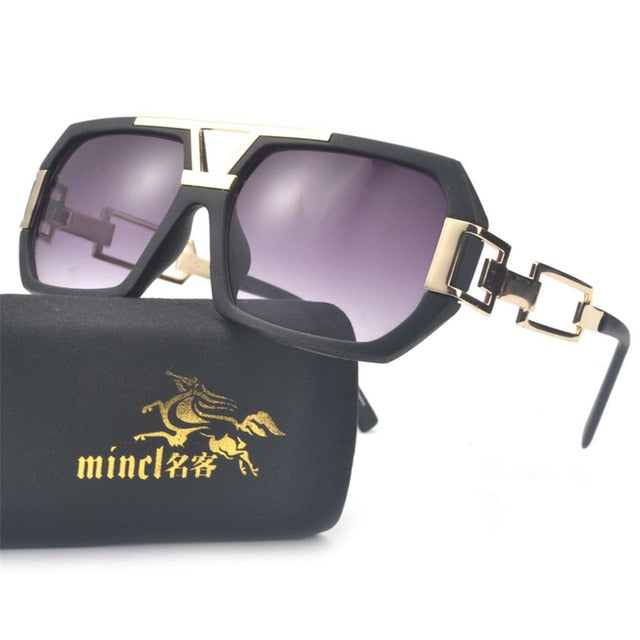 Unisex Oversized Boxed Shield Sunglasses-Men's Sunglasses-matte black-Product Detail: Unisex Oversized Shield Visor Sunglasses Women Large Size Sunglasses Men Or Women Transparent Frame Vintage Big Windproof Retro Glasses Lenses Optical Attribute: UV400 Frame Material: Plastic Titanium Lenses Material: Polycarbonate-Keyomi-Sook