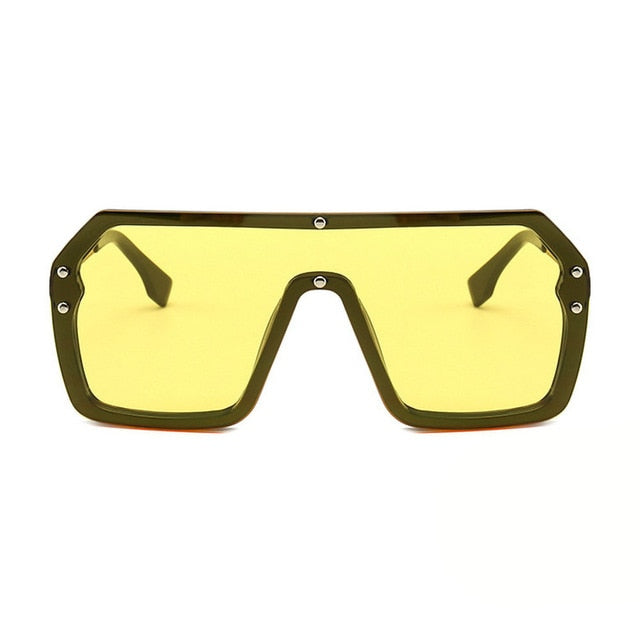 Unisex Oversized Boxed Shield Sunglasses-Men's Sunglasses-yellow 2-Product Detail: Unisex Oversized Shield Visor Sunglasses Women Large Size Sunglasses Men Or Women Transparent Frame Vintage Big Windproof Retro Glasses Lenses Optical Attribute: UV400 Frame Material: Plastic Titanium Lenses Material: Polycarbonate-Keyomi-Sook
