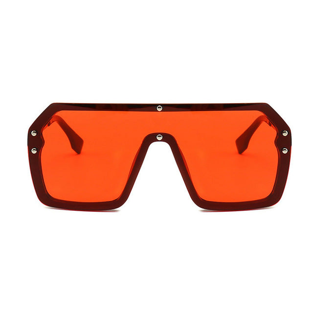 Unisex Oversized Boxed Shield Sunglasses-Men's Sunglasses-red 2-Product Detail: Unisex Oversized Shield Visor Sunglasses Women Large Size Sunglasses Men Or Women Transparent Frame Vintage Big Windproof Retro Glasses Lenses Optical Attribute: UV400 Frame Material: Plastic Titanium Lenses Material: Polycarbonate-Keyomi-Sook