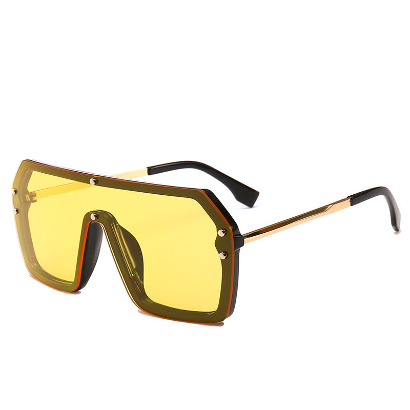 Unisex Oversized Boxed Shield Sunglasses-Men's Sunglasses-Product Detail: Unisex Oversized Shield Visor Sunglasses Women Large Size Sunglasses Men Or Women Transparent Frame Vintage Big Windproof Retro Glasses Lenses Optical Attribute: UV400 Frame Material: Plastic Titanium Lenses Material: Polycarbonate-Keyomi-Sook