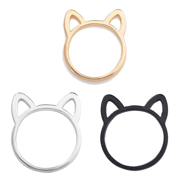 Ladies Ring Cat Ears-Ladies Rings-BK-6-Keyomi-Sook