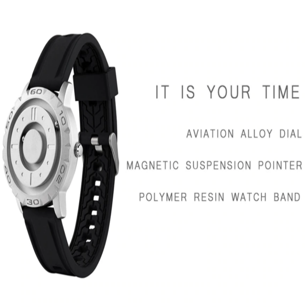 Innovative Glass-Less Men'S Magnetic Quartz Wrist Watches-Men's Watches-Eye Catching, Sleek, Modern Watch The Everyone Can Use. Versatile Use It Also Designed For Touch. When You Are Unable To See Like During A Movie, In The Club, While In A Meeting, Anywhere There Low Lighting, Even Due To Vision Impairment. Product Details: This All Metal Magnetic Power Watch Is A Subversion Of The Traditional Watch Design. With The Use Of 2 Steel Balls That Time. The Balls Are Driven By Magnetic Force, You Ca