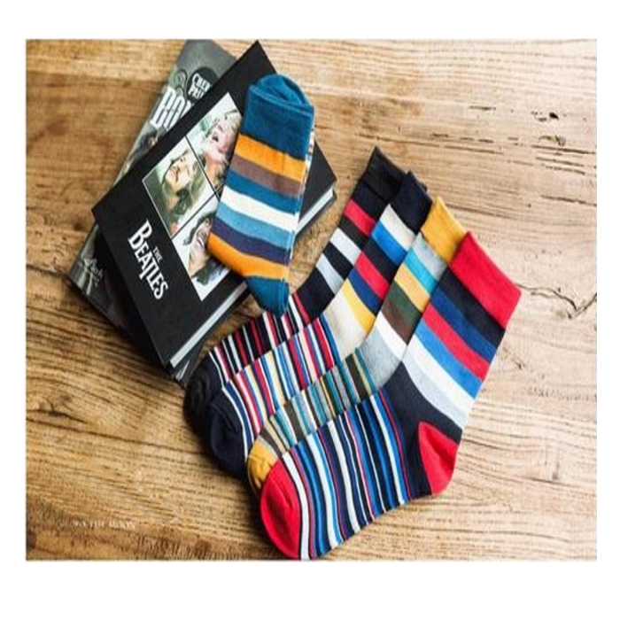 5 Pairs Vivid Colour Striped Cotton Mens Socks-Men's Dress Socks-Go To The Office Maybe Into Your Next Wedding or Upscale Event With Uniqueness & Confidence In These Mens Vivid Colour Striped Cotton Socks. Medium Thickness Provides A Comfortable Cushion With Breath-ability These Mens Vivid Colour Striped Cotton Socks Are Anti-Bacterial And Moisture Wick Properties Design To Respond To The Bodies TemperatureThese Mens Vivid Colour Striped Cotton Socks Can Be Machined Wash Expertly Blended Cotton